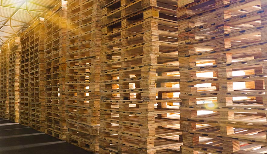 Smith Machine Worx - Stacks of Wood Pallets